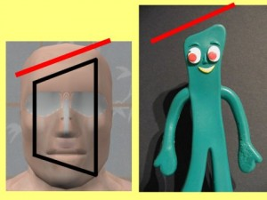 Why_Masturbation_Gumby_Head-GumbyHeadTrapezoidHeadCompare